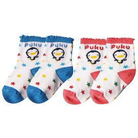 ~布克浩司~PUKU藍色企鵝 短襪~藍 紅 ^(P27017^)~100^%純棉
