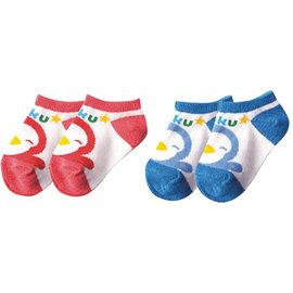 ~布克浩司~PUKU藍色企鵝 超短襪~藍 紅^(P27019^)~100^%純棉