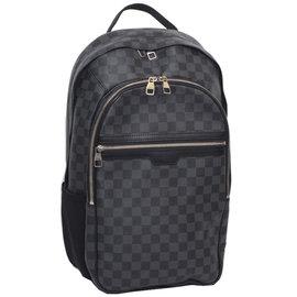 Louis Vuitton LV N58024 MICHAEL Damier 黑棋盤格紋後