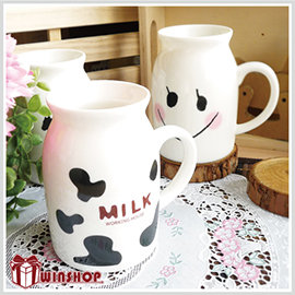 【winshop】A1842 日系陶瓷牛奶杯-小/牛奶馬克杯/牛奶罐造型馬克杯/咖啡杯/早餐杯