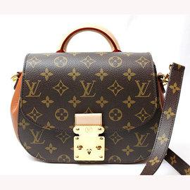 Louis Vuitton LV M40578 EDEN PM 花紋S鎖扣兩用仕女包.棕褐
