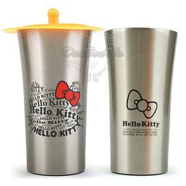 Kitty不鏽鋼杯啤酒杯子附杯蓋300 ml英文字065956通販部