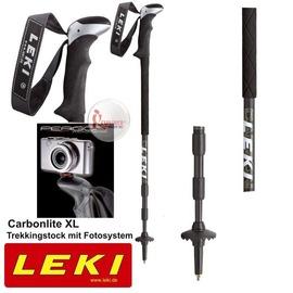探險家戶外用品㊣6312125 德國LEKI 碳纖維登山杖 長泡棉握把相機腳架(兩支一組) 無避震
