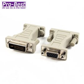 PRO BEST DVI~I~VGA DVI^(29M15F^)  轉接頭~1入