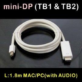 含音效 mini displayport公^(支援閃電Thunderbolt^) 轉 HD