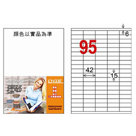 龍德三用列印電腦標籤LD~843~TL~C 95格