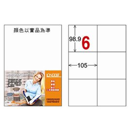 龍德三用列印電腦標籤LD~808~C~C 6格
