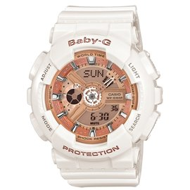 寶儷鐘錶~ 0利率~CASIO Baby~G BA~110~7A1 白x纓粉 少女時代 S