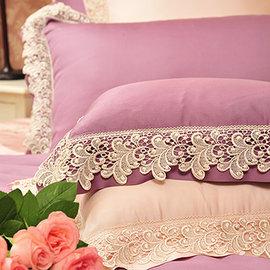 義大利La Belle《天使之翼》加大天絲四件式舖棉兩用被床包組-(二色任選)