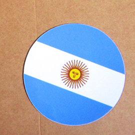 ~衝浪小胖~阿根廷國旗圓形抗UV、防水貼紙╱Argentina╱世界多國款可蒐集和客製