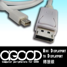 ~A~GOOD~Mini Display Port to Display Port轉接線~
