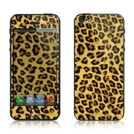 韓國知名SKINNYSKIN彩膜 iphone 5  黃色豹紋 百款圖案 輕鬆DIY 待機