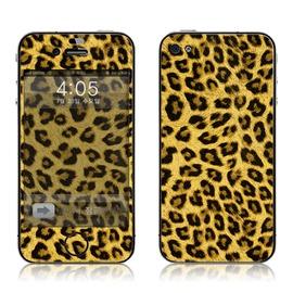 韓國知名SKINNYSKIN彩膜 iphone 4s  iphone 4 ^(黃色豹紋^)