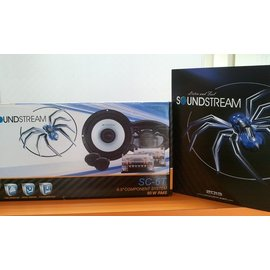 開星LED車の影音光電^~^~ 款SOUNDSTREAM SC~6T 蜘蛛 6.5吋 兩音