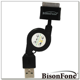 BisonFone USB 渦捲 伸縮 傳輸線 for iPad iPhone 4 4S