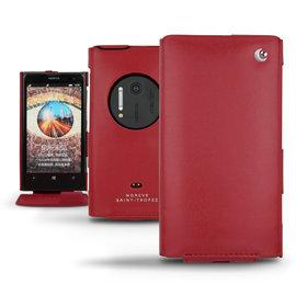 「Nokia Lumia 1020」諾基亞 Lumia1020 專用皮套 保護套 保護殼 手機套 手工訂製 法國NOREVE頂級手機皮套 專賣店 推薦 紅色