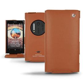 「Nokia Lumia 1020」諾基亞 Lumia1020 專用皮套 保護套 保護殼 手機套 手工訂製 法國NOREVE頂級手機皮套 專賣店 推薦 棕色