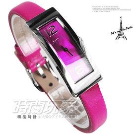 MBM1291 MARC JACOBS MBMJ 細長方型 桃粉紅面 桃粉紅真皮 錶側LO