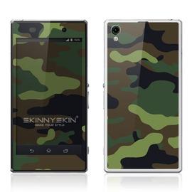 韓國知名SKINNYSKIN彩膜 Sony Xperia Z  Z1  深色迷彩 百款圖案
