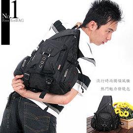 多口袋三角後背包C145-29(運動背包.運動包.側背包.書包.休閒包.電腦包.潮包.推薦.哪裡買)