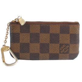 ~9成新~Louis Vuitton LV N62658 棋盤格紋小型方型鑰匙零錢包 價