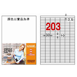 龍德三用列印電腦標籤LD~850~R~C 203格