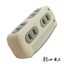 朝日電工 LED光控自動感光立體小夜燈四插座分接器轉接插座 R~32 ~顏色 ~