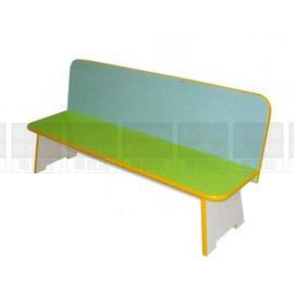 ^~南亞塑鋼 ^~舒適長條椅^(半圓PVC車溝封邊處理,彩色美耐貼木心板、顏色:白 綠^)
