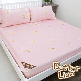 【奶油狮】怡情叶语系列-床包二件组(粉红)-单人3.5尺
