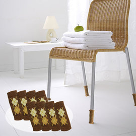 降低噪音~避免刮傷~OMORY~日式椅 桌 床腳套8入2組~菱格棕色
