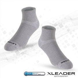 ~LEADER~COOLMAX除臭機能 襪 男款 灰色