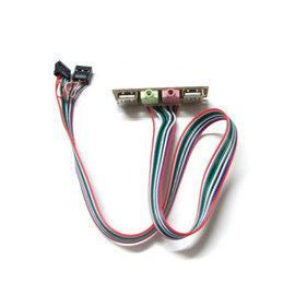 (機殼/主機板-排線) 2 USB+2音源孔 前置面板/前置擋板線/USB擴充卡 [DSS-00004]