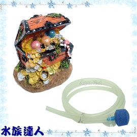 ~水族 ~海豚Dophin~珠寶盒^(附氣泡石^).U736~造景裝飾 藍色潛水艇 可吹出
