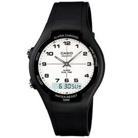 CASIO 酷炫 指針雙顯錶~數字白面