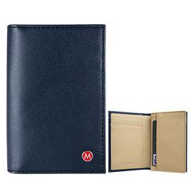 品MONDAINE 瑞士國鐵雙色豪華型名片夾~藍x米