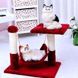 吊床貓跳台~附吊床可 貓咪休息~d9^(採用短毛絨布料^)