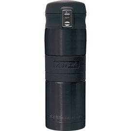 太和工房負離子能量彈扣式保溫瓶MD【350ml】黑綠色