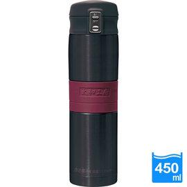 太和工房負離子能量彈扣式保溫瓶MD【450ml】黑紅色