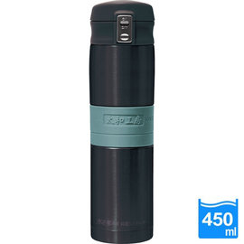 太和工房負離子能量彈扣式保溫瓶MD【450ml】黑綠色