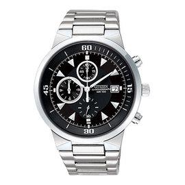 CITIZEN 帥氣耀眼三眼計時腕錶/41mm
