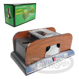 【Playwoods】[博弈益智Casino]POKER德州撲克/MTG:木質經典版 電動自動洗牌機 Card Shuffle Machine (木製/新年/過年/紙牌)