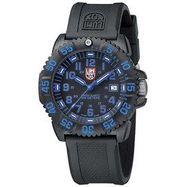 LUMINOX雷明時 海豹部隊指標系列4.4cm腕錶~藍^(黃色 冰藍冷光^)