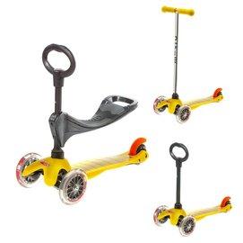 【紫貝殼】『CID01』瑞士 Micro Mini 3 in1:適合1~ 5歲_三合一兒童滑板車【是滑步車、也是滑板車】