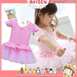 童裝-氣質 蝴蝶結 點點 紗裙 連身裙 洋裝