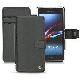 索尼「 Sony Xperia Z1 Compact 」側掀支架皮套 真皮皮套 保護套 手機殼 手機套 保護殼 手工訂製 法國NOREVE頂級手機皮套 專賣店 推薦