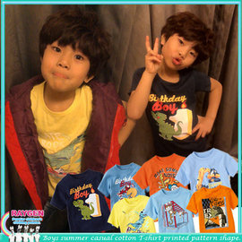 童裝 T恤 童裝 賽車 恐龍 搖滾 印花 短袖T恤