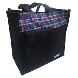 X-FREES格子小提袋-3入