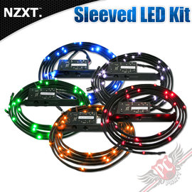 ^~ PC PARTY ^~ 恩傑 NZXT Sleeved LED Kit 模組LED線