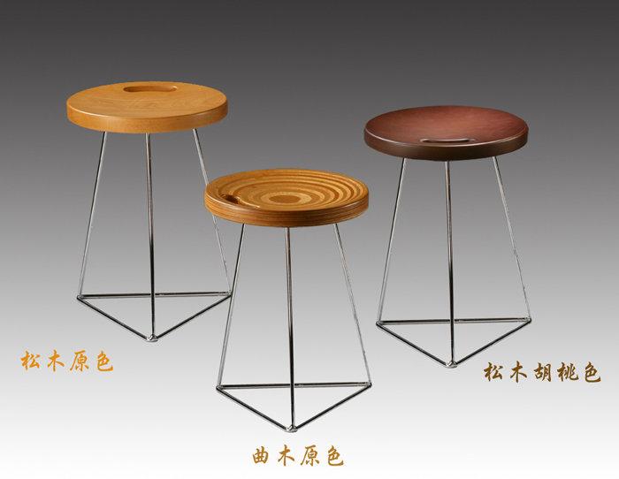 {homy}日本实木板凳/同心圆造型椅凳/矮凳/圆凳/曲木
