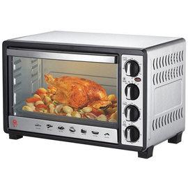 ◤贈不鏽鋼深烤盤+隔熱手套ㄧ雙◢ 晶工牌 30L 雙溫控不鏽鋼旋風烤箱 JK-7300 / JK7300